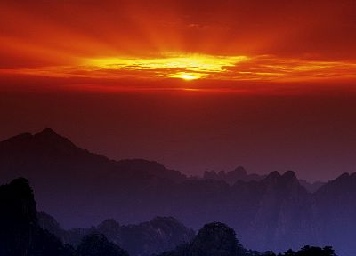 sunset, China - random desktop wallpaper