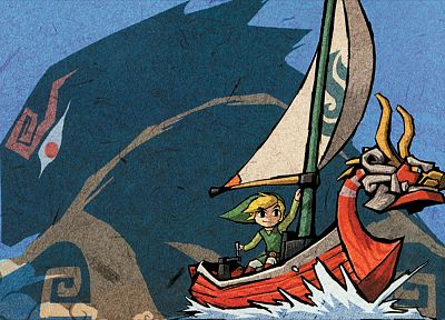 water, video games, ocean, Link, Ganondorf, boats, The Legend of Zelda, King of Red Lions, legend of zelad: wind waker - related desktop wallpaper