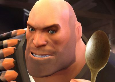 Heavy TF2, spoons - random desktop wallpaper