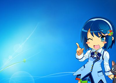 Windows 7, Madobe Nanami, Microsoft Windows, OS-tan - related desktop wallpaper