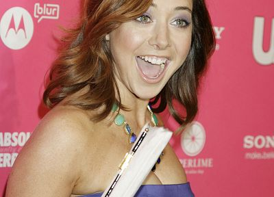 Alyson Hannigan, women, dress, redheads, celebrity - desktop wallpaper
