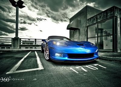 cars, Chevrolet Corvette Z06, blue cars - desktop wallpaper