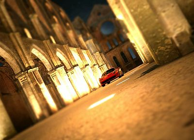 streets, cars, tilt-shift - random desktop wallpaper