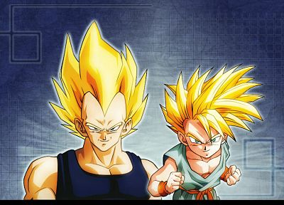Vegeta, Trunks, Dragon Ball Z, Super Saiyan - desktop wallpaper