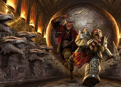 fantasy art, dwarfs, warriors - random desktop wallpaper