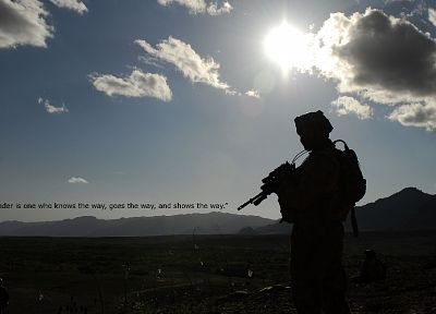 sunset, clouds, military, text, deserts, Afghanistan, Australian, AUG, Steyr Aug - desktop wallpaper