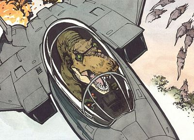 aircraft, Calvin and Hobbes, F-15 Eagle, pop art - desktop wallpaper