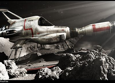 spaceships, interceptor, vehicles - random desktop wallpaper