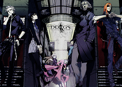 Dogs: Bullets and Carnage, anime, Heine Rammsteiner, Badou Nails, Fuyumine Naoto, Mihai Mihaeroff, Nill - desktop wallpaper