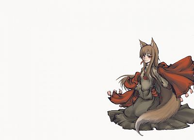 Spice and Wolf, animal ears, Holo The Wise Wolf, simple background, inumimi - random desktop wallpaper