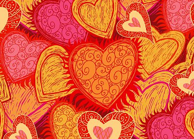 design, hearts - desktop wallpaper