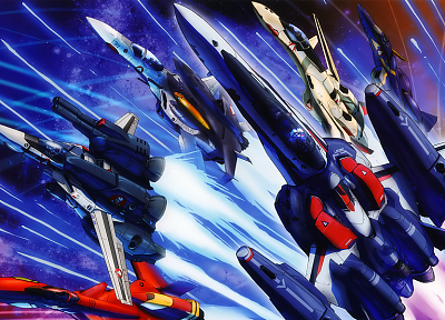 Macross Frontier, spaceships, vehicles, anime - random desktop wallpaper