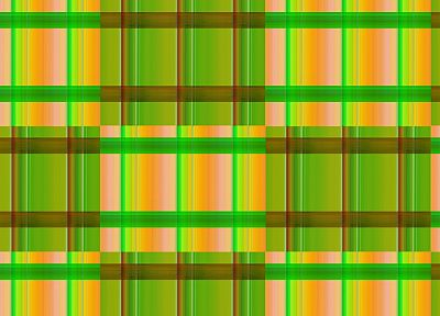 green, yellow, patterns, lines, littleTeufel, cross hatch - desktop wallpaper