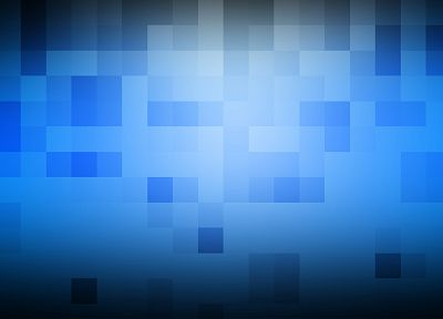 blue, pixel art - desktop wallpaper