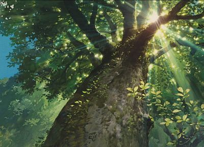 trees, sunlight, Karigurashi no Arrietty, The Secret World of Arrietty - random desktop wallpaper