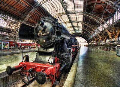 Germany, trains, Steam train, vehicles, Dresden, BR52 - random desktop wallpaper