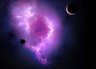 outer space, purple, nebulae - random desktop wallpaper