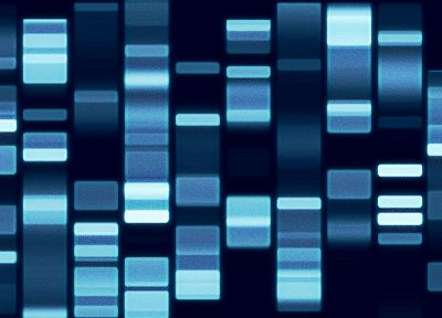 abstract, blue, lights, technology, DNA - desktop wallpaper