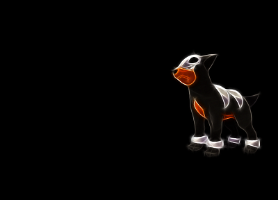 Pokemon, simple background, black background, houndour - desktop wallpaper
