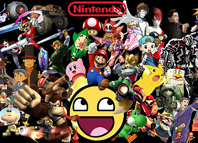 Nintendo, Awesome Face - random desktop wallpaper