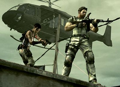 video games, Resident Evil, Chris Redfield, Sheva Alomar - random desktop wallpaper