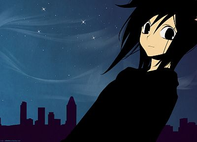 brunettes, cityscapes, architecture, buildings, nekomimi, Loveless, cat ears, anime, Ritsuka Aoyagi - desktop wallpaper