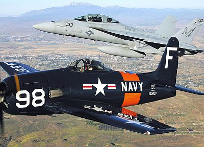 aircraft, military, World War II, Warbird, F-15 Eagle, F-8 Bearcat, fighters - related desktop wallpaper