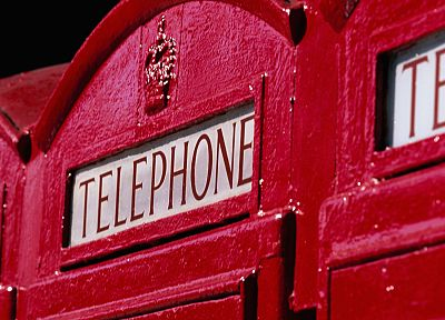 red, phone booth, English Telephone Booth - random desktop wallpaper