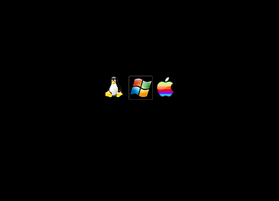 Mac, Linux, tux, Microsoft Windows, logos - duplicate desktop wallpaper