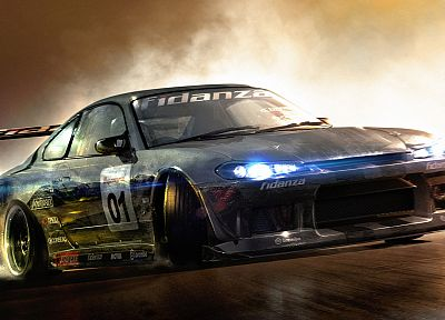 cars, drifting cars, Nissan, vehicles, tuning, Race Driver GRID, Nissan Silvia S15 - related desktop wallpaper