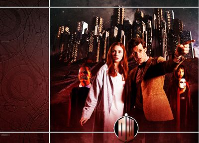 Matt Smith, Karen Gillan, Amy Pond, Eleventh Doctor, Doctor Who - desktop wallpaper