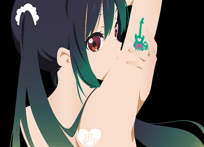 K-ON!, transparent, Nakano Azusa, anime girls, anime vectors - random desktop wallpaper