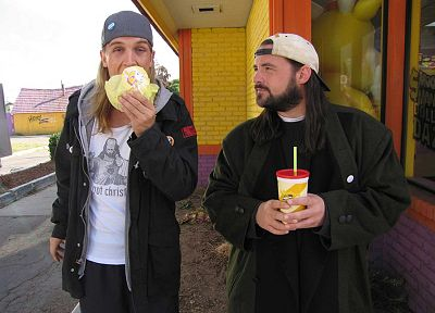 Jay and Silent Bob, Kevin Smith, Jason Mewes - random desktop wallpaper