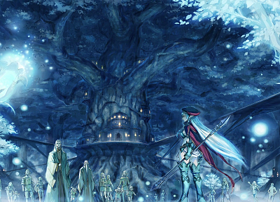 trees, Queens blade, elves, tree house - random desktop wallpaper