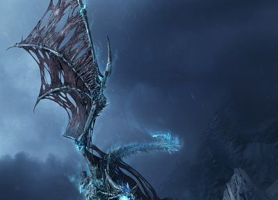 ice, dragons, fly, sindragosa - random desktop wallpaper