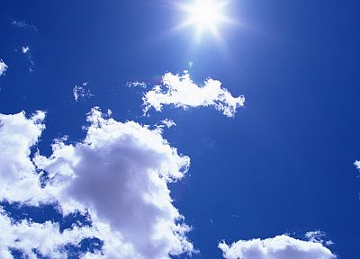 clouds, nature, Sun, skyscapes, sky - desktop wallpaper