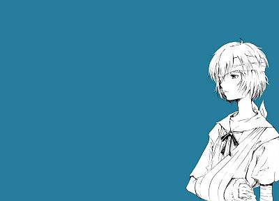 Ayanami Rei, Neon Genesis Evangelion, simple background - related desktop wallpaper