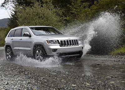 water, cars, Jeep Grand Cherokee, splashes - related desktop wallpaper