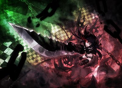 Black Rock Shooter, Black Gold Saw, swords - random desktop wallpaper