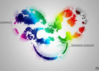music, multicolor, Deadmau5, dubstep, Mickey Mouse, colors - random desktop wallpaper