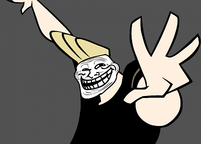 Johnny Bravo, trollface - related desktop wallpaper