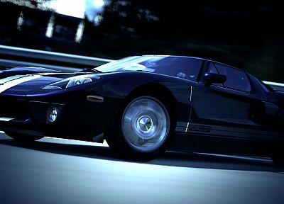 video games, cars, vehicles, Ford GT, Gran Turismo 5, Playstation 3 - desktop wallpaper