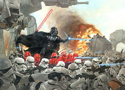 Star Wars, stormtroopers, Darth Vader - related desktop wallpaper