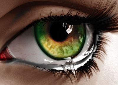 green, women, eyes, CGI, green eyes - random desktop wallpaper