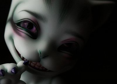 cats, Alice in Wonderland, scary, faces - desktop wallpaper