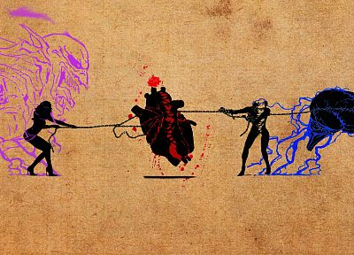 women, fight, hearts, mind - desktop wallpaper