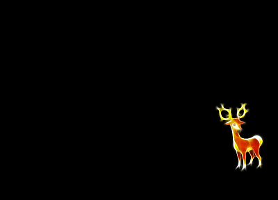 Pokemon, black background, Stanler - desktop wallpaper