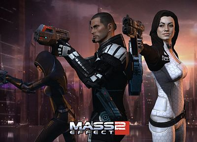 Miranda Lawson, Mass Effect 2, Commander Shepard - desktop wallpaper