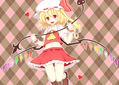 video games, Touhou, vampires, Flandre Scarlet, Laevateinn - desktop wallpaper