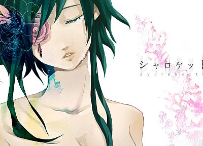 Vocaloid, flowers, green hair, Megpoid Gumi, anime girls - random desktop wallpaper